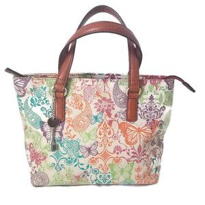 Fossil Bag Butterflies Paisley Floral Print Small